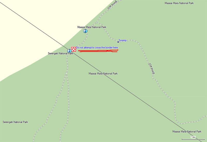 пересечь границу Кения/Танзания в Масаи Мара