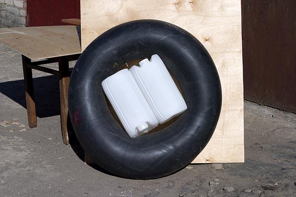 как сделать лодку из камеры грузовика