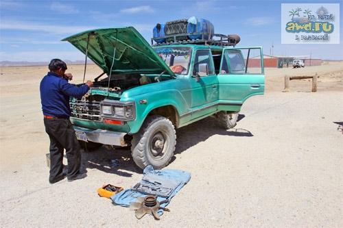 солончак Уюни в Боливии