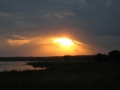 Sunset in Murchison Falls NP