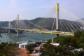 Hong Kong: View from Lantau Link to Kap Shui Mun Bridge